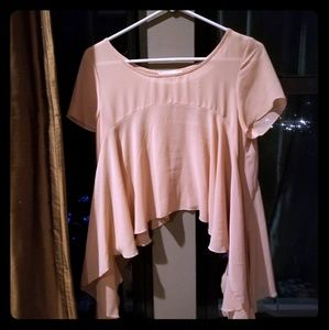 Tops - Flowy doll crop translucent top